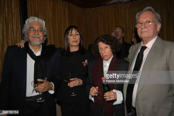 Robert Graham Angelica Houston Fran Lebowitz and Earl McGrath attend Bob Shaye and Michael Lynne host the Newline Cinema PreOscar Party at their home...