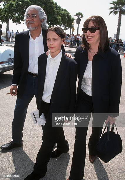 Robert Graham Anjelica Huston and son Jack during The 12th Annual IFP/West Independent Spirit Awards at Santa Monica Beach in Santa Monica California...