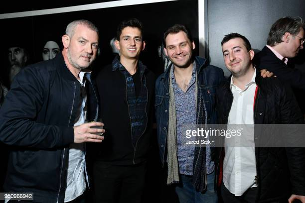 Robert Green Alex Sewer Graham Sack and David Katz attend Tribeca Film Festival World Premiere Party for the Virtual Reality Experience 'The Day the...