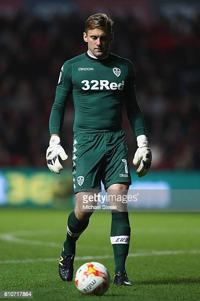 Robert Green of Leeds United during the Sky Bet Championship match between Bristol City and Leeds United at Ashton Gate on September 27 2016 in...
