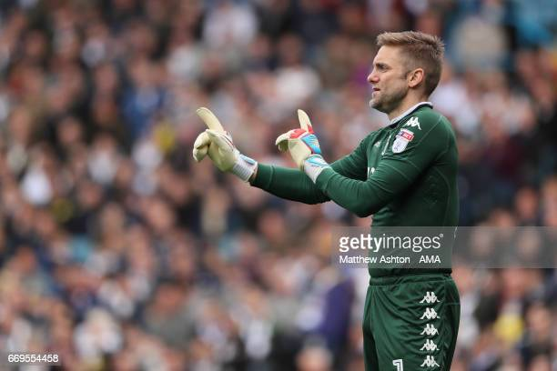 Robert Green of Leeds United during the Sky Bet Championship match between Leeds United and Wolverhampton Wanderers at Elland Road on April 17 2017...