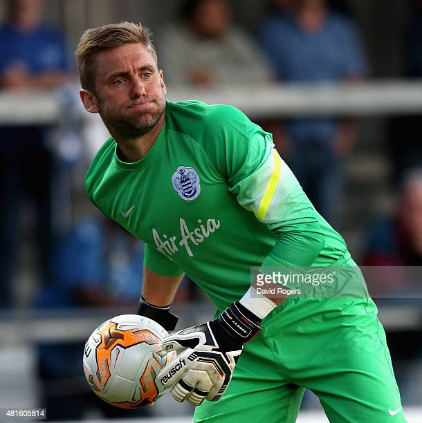 Robert Green of QPR holds onto the ball during the pre season friendly match between Queens Park Rangers and Dundee United at The Hive on July 22...
