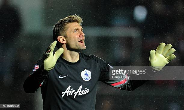 Robert Green of Queens Park Rangers during the Sky Bet Championship match between Bristol City and Queens Park Rangers at Ashton Gate on December 19...