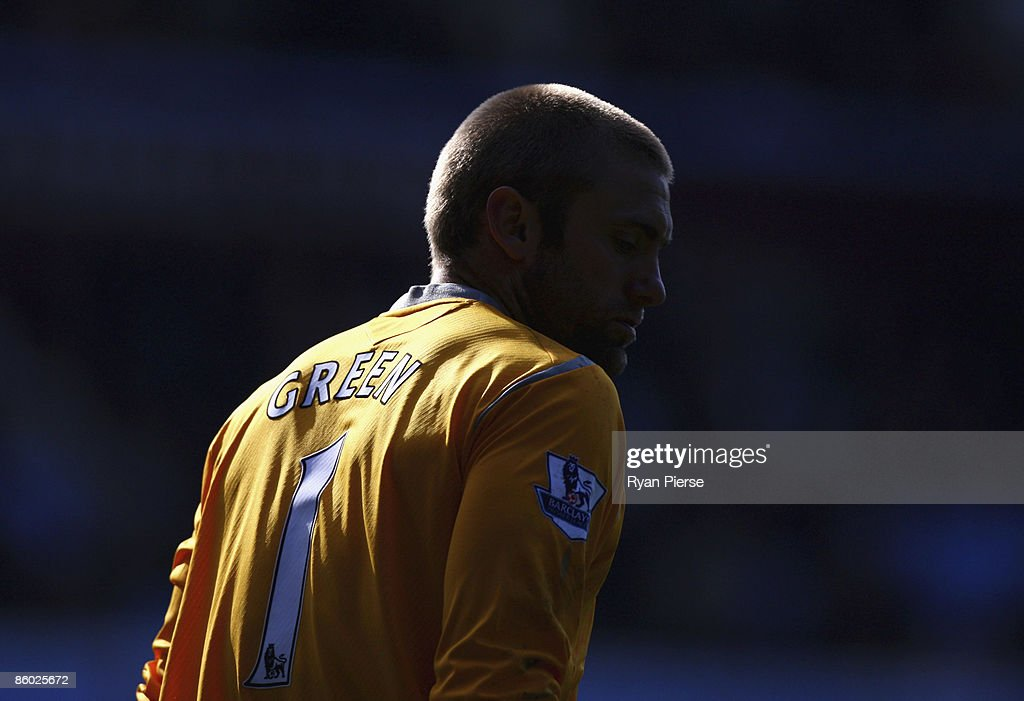Robert Green of West Ham looks on during the Barclays Premier League match between Aston Villa and West Ham United at Villa Park on April 18, 2009 in Birmingham, England.