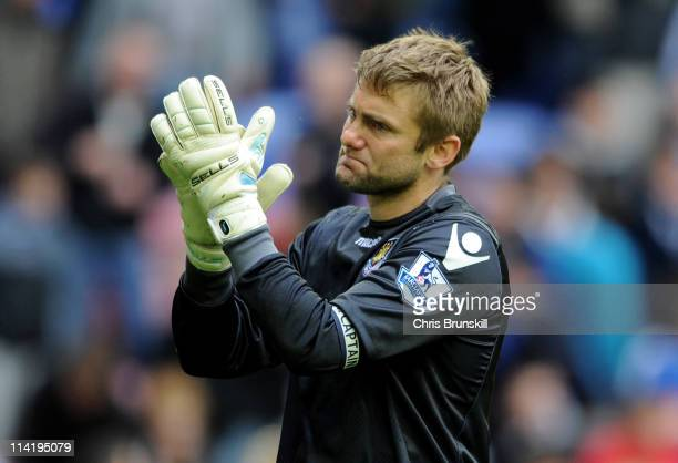 Robert Green of West Ham United acknowledges the fans at the end of the Barclays Premier League match between Wigan Athletic and West Ham United at...