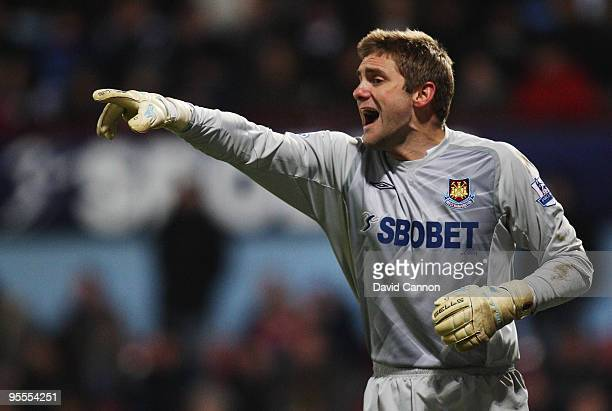 Robert Green the West Ham United goalkeeper in action during the FA Cup sponsored by E.ON 3rd Round match between West Ham United and Arsenal at the...
