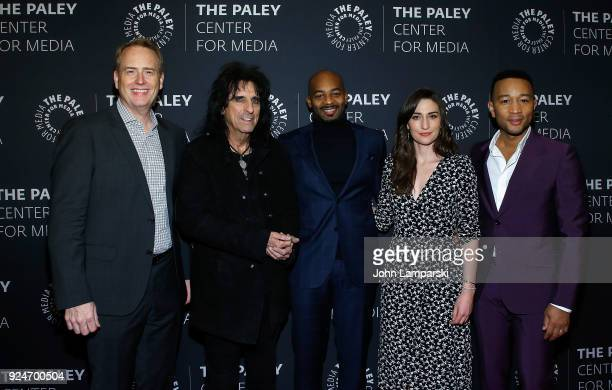 Robert Greenblatt Alice Cooper Brandon Victor Dixon Sara Bareilles and John Legend attends The Paley Center for Media presents Behind The Scenes...