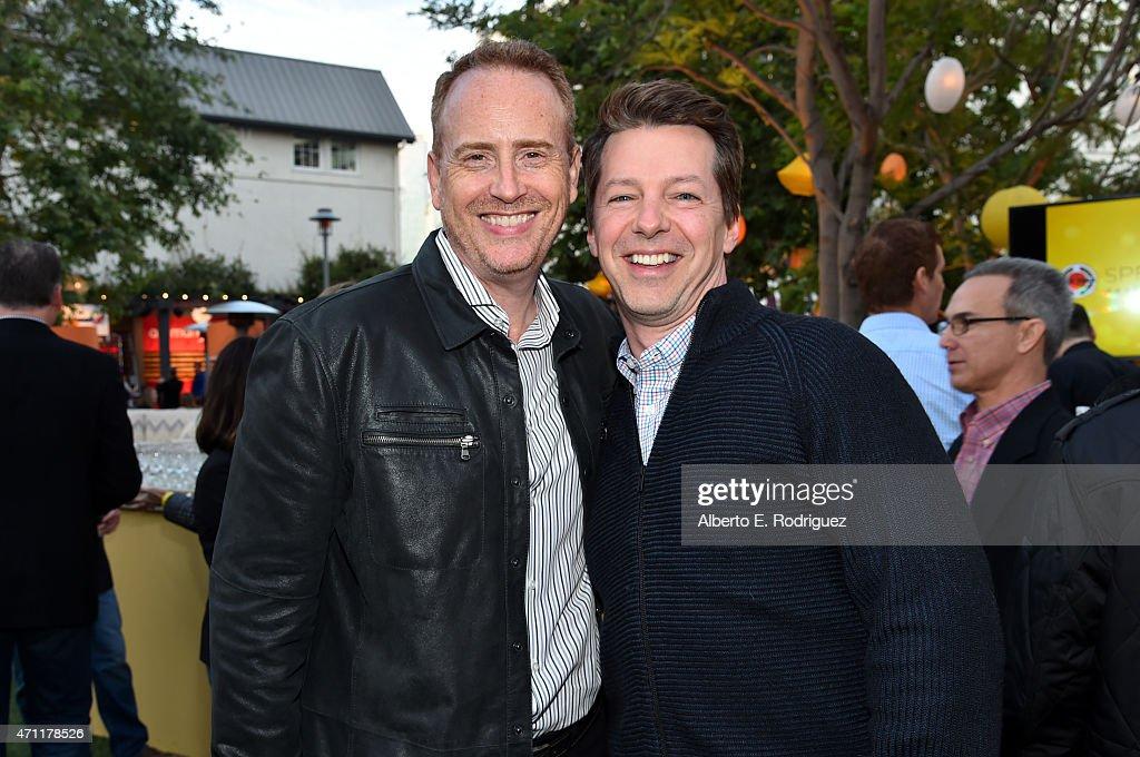 Robert Greenblatt (L) and actor Sean Hayes attends City Year Los Angeles Spring Break at Sony Studios on April 25, 2015 in Los Angeles, California.