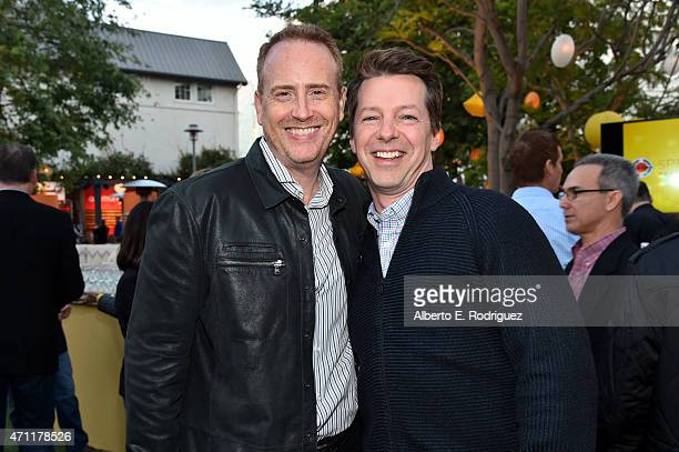 Robert Greenblatt and actor Sean Hayes attends City Year Los Angeles Spring Break at Sony Studios on April 25 2015 in Los Angeles California