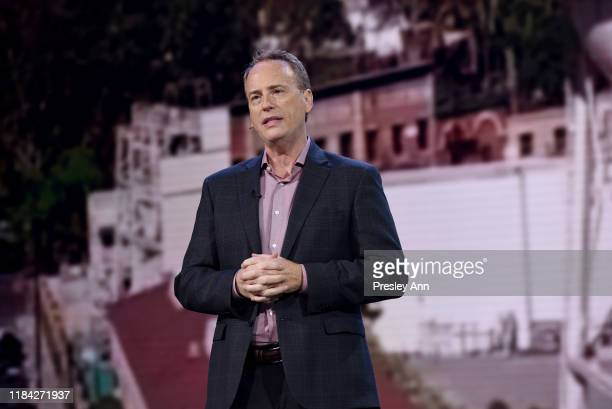 Robert Greenblatt Chairman of WarnerMedia Entertainment DirectToConsumer speaks onstage at HBO Max WarnerMedia Investor Day Presentation at Warner...