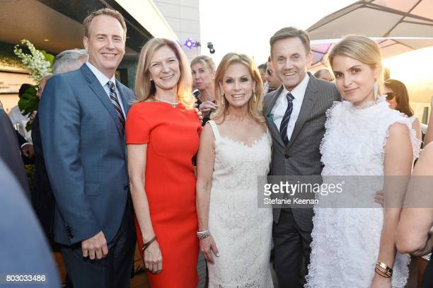 Robert Greenblatt Dawn Hudson Adele Alagem Chip Sullivan and Alexis Alagem attend Waldorf Astoria Beverly Hills Grand Opening Cocktail Celebration on...