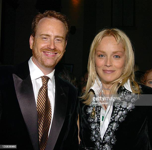 Robert Greenblatt president of entertainment Showtime and Sharon Stone