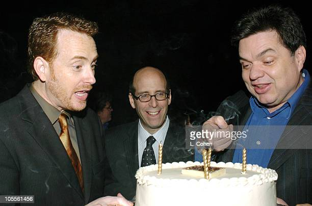 Robert Greenblatt president of Showtime Entertainment and Matt Blank CEO/chairman of Showtime with Oliver Platt of Huff