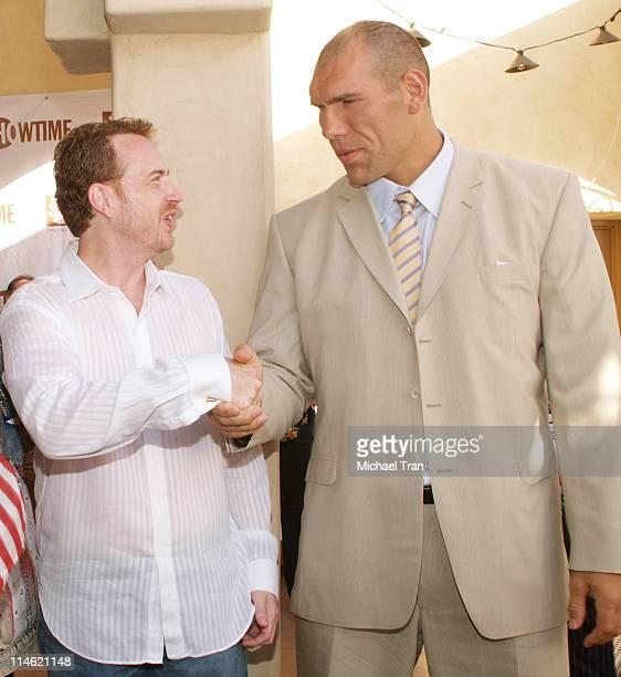 Robert Greenblatt President of Showtime Entertainment and Nikolay Valuev WBA Super Heavyweight Boxing Champion