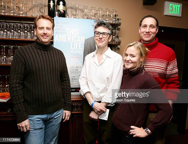 Robert Greenblatt President of Showtime Ira Glass Jocelyn Hayes Simpson of Killer Films and John Moser