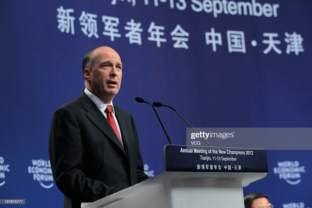 Robert Greenhill, Managing Director and Chief Business Officer of World Economic Forum, attends the farewell reception during the 2012 Tianjin Summer Davos at Meijiang Convention and Exhibition Center on September 13, 2012 in Tianjin, China. World Economic Forum 2012 Tianjin Summer Davos will be held from September 11 to 13, with the theme of 'Creating Future Economy'.