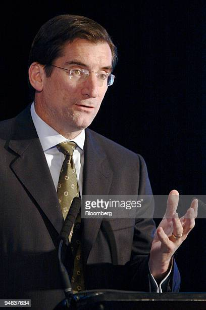 Robert Greifeld, chief executive officer of the Nasdaq Stock Market, Inc., speaks at the eBrokerage and Global Exchange Conference held by Sandler...