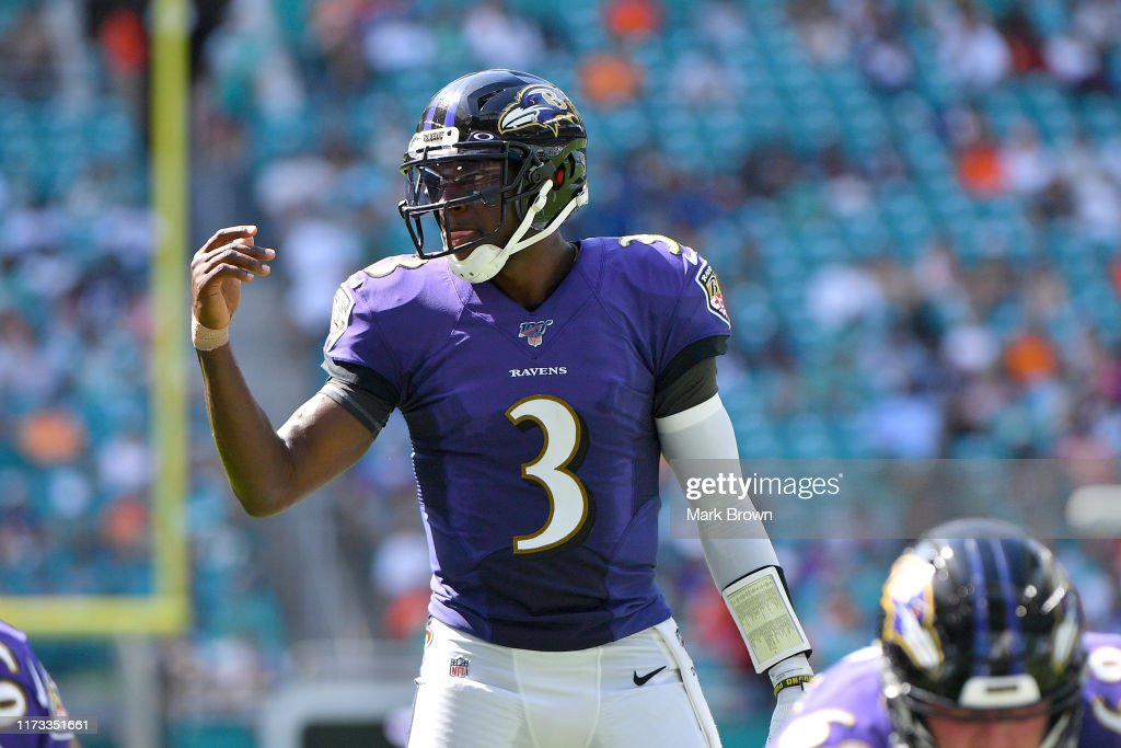 Baltimore Ravens vMiami Dolphins : Foto jornalística