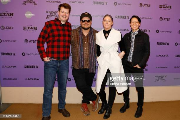 Robert Grigsby Wilson Sterlin Harjo Erica Tremblay and Kasia Chmielinski attend the 2020 Sundance Film Festival La Leyenda Negra Premiere at Egyptian...