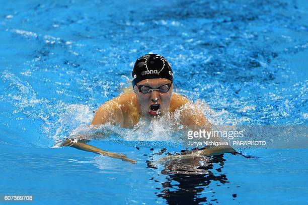 Robert Griswold of USA competes in the Men's 200m IM SM8 Final on day 10 of the Rio 2016 Paralympic Games at Olympic Aquatics Stadium on September 17...