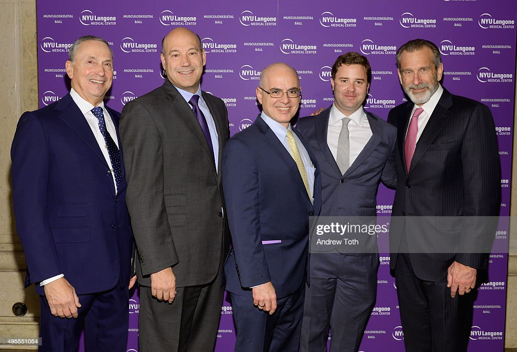 Robert Grossman MD., Gary Cohn, Steven Flanagan MD., Casey Box, and Joseph Zuckerman MD. attend NYU Langone Musculoskeletal Ball 2015 on November 3, 2015 in New York City.