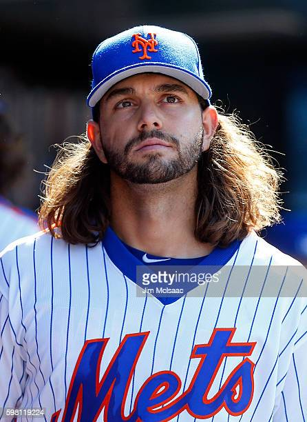 Robert Gsellman of the New York Mets looks on against the Philadelphia Phillies at Citi Field on August 28 2016 in the Flushing neighborhood of the...