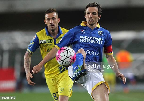 Robert Gucher of Frosinone Calcio in action during the Serie A match between AC Chievo Verona and Frosinone Calcio at Stadio Marc'Antonio Bentegodi...