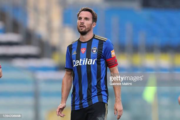 Robert Gucher of SC Pisa in action during the serie B match between SC Pisa and AS Cittadella at Arena Garibaldi on July 3, 2020 in Pisa, Italy.