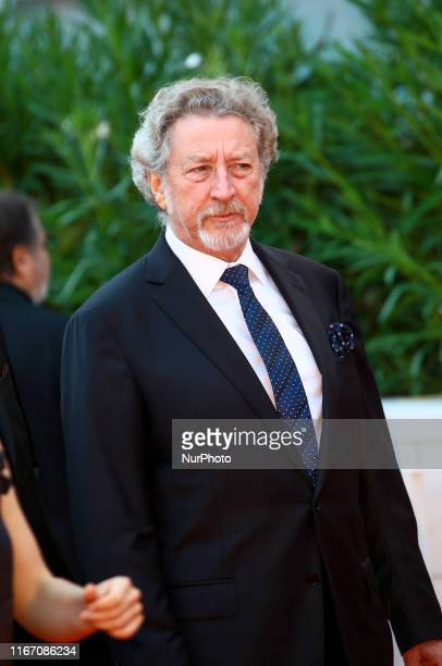 Robert Guediguian walks the red carpet ahead of the closing ceremony of the 76th Venice Film Festival at Sala Grande on September 07 2019 in Venice...
