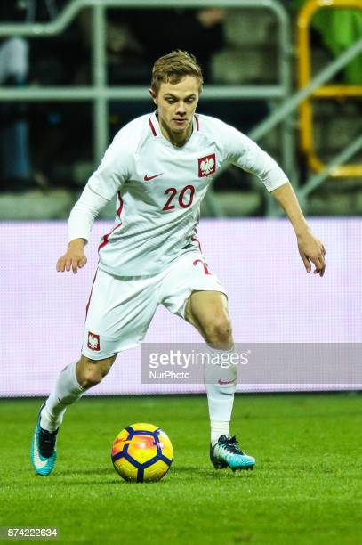 Robert Gumny during UEFA U21 Championship Qualifier match between Poland and Denmark on November 14 2017 in Gdynia Poland