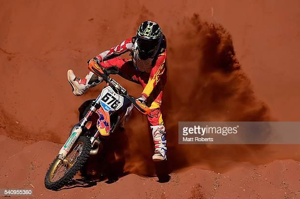 Robert Guy competes during the 2016 Finke Desert Race on June 13 2016 in Alice Springs Australia