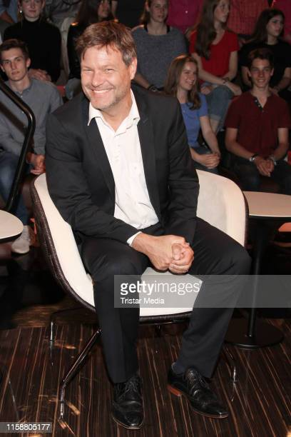 """Robert Habeck during the """"Markus Lanz"""" TV show on June 27, 2019 in Hamburg, Germany."""
