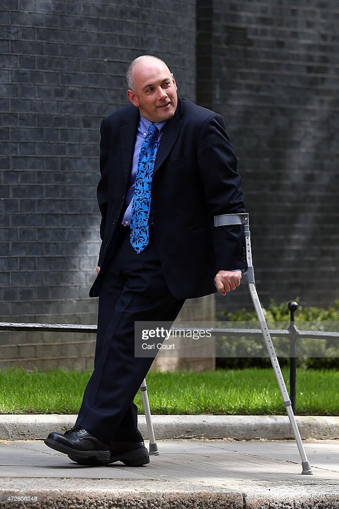 Robert Halfon, the newly appointed deputy chairman of the Conservative party, arrives at Downing Street on May 11, 2015 in London, England. Prime Minister David Cameron continued to announce his new cabinet with many ministers keeping their old positions.