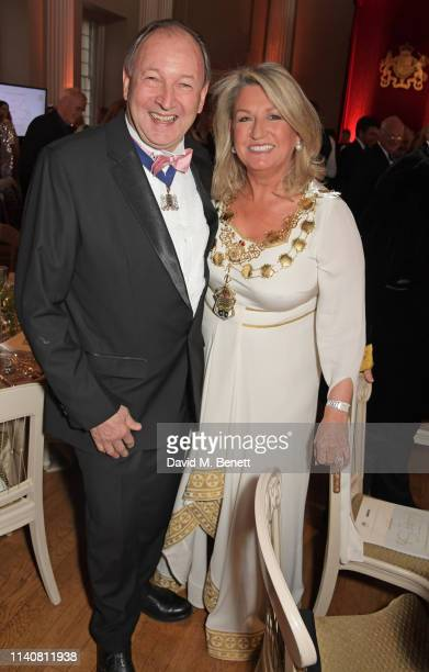Robert Hall and Lord Mayor of Westminster Lindsey Hall attend The Lord Mayor Of Westminster's 'Under The Painted Sky' Gala in support of YoungMinds...
