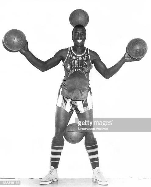 Robert Hall of the Harlem Globetrotters basketball team New York New York January 1956