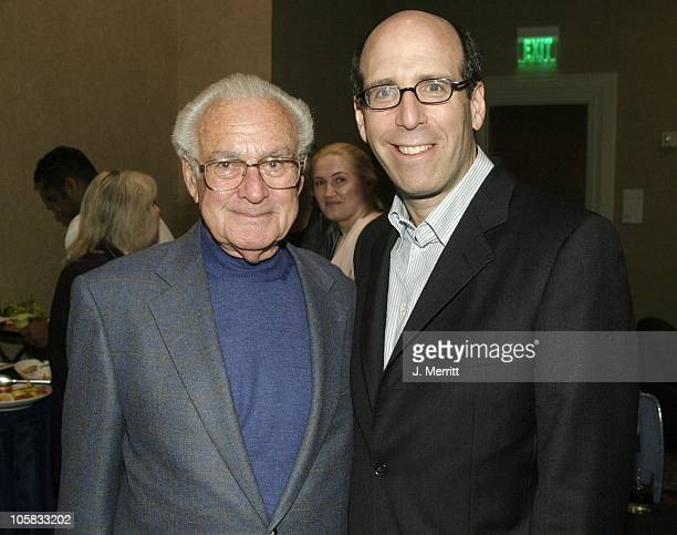 Robert Halmi Sr and Matthew C Blank during Showtime Networks Presentation to The Television Critics Association at The Hollywood Renaisssance Hotel...