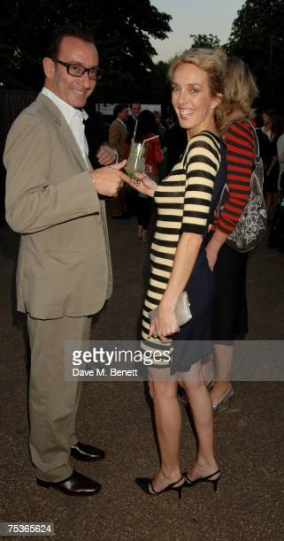 Robert Hanson and Sarah Woodhead attend the Serpentine Summer Party at The Serpentine Gallery on July 11 2007 in London England