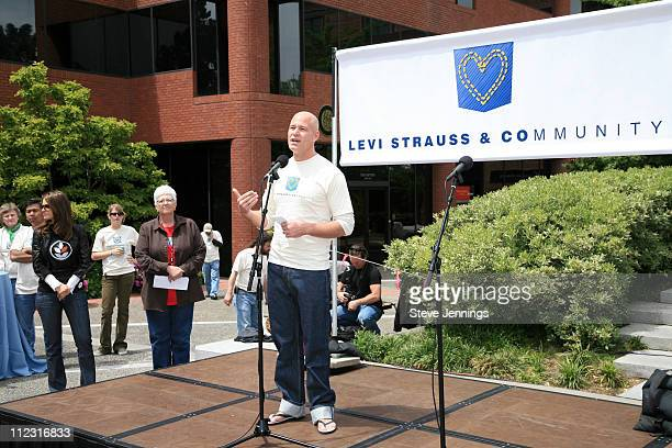 Robert Hanson during Maria Menounos Celebrates Volunteerism With Levi's Jeans on 501 Day at Levi's Headquarters and Store in San Francisco California...