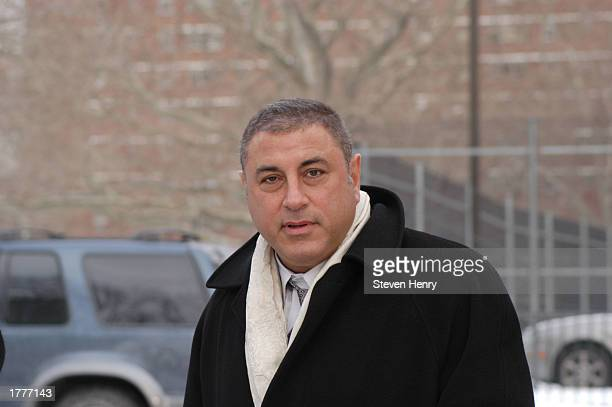 Robert Hantsmann defense attorney for John Nasso leaves Brooklyn Federal Court February 11 2003 in New York City Steven Seagal is testifying at a...