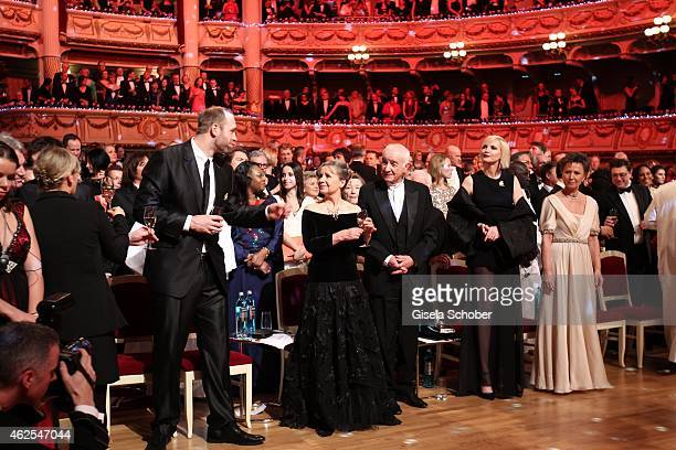 Robert Harting Gabriele Scholz Armin MuellerStahl Nadja Auermann during the Semper Opera Ball 2015 at Semperoper on January 30 2015 in Dresden Germany