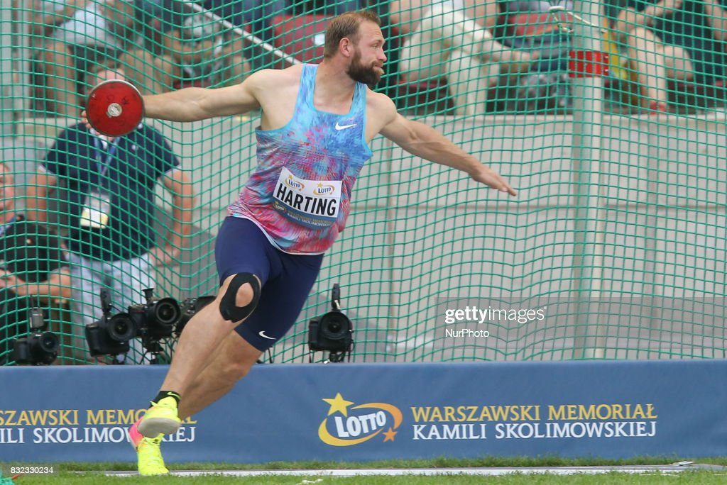 Robert Harting (GER), in action during the 5th Kamila Skolimowska Memorial of athletics in Warsaw, Poland, on 15 August, 2017.