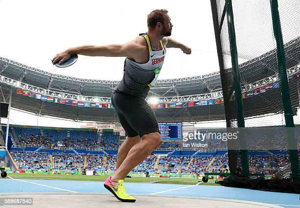 Robert Harting of Germany competes in the Men's Discus qualification on Day 7 of the Rio 2016 Olympic Games at the Olympic Stadium on August 12 2016...
