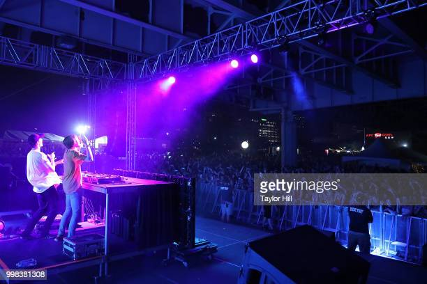 Robert Hauldren and Frederic Kennett of Louis the Child perform during the 2018 Forecastle Music Festival at Louisville Waterfront Park on July 13,...