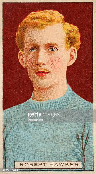 Robert Hawkes captain of Luton Town FC featured on a vintage cigarette card published in London circa 1908