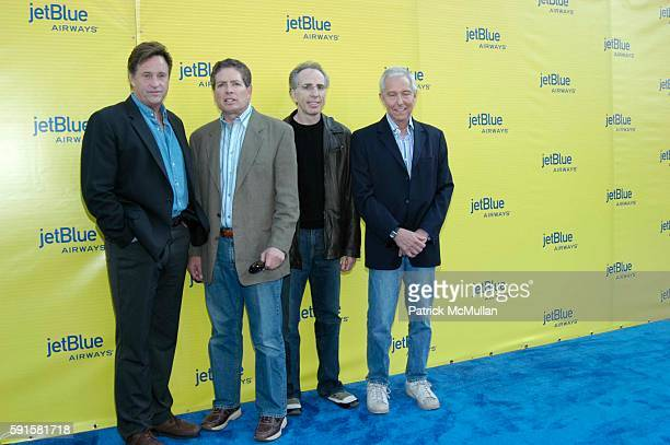 Robert Hayes David Zucker Jerry Zucker Jim Abrahams and Tim Clayton attend JetBlue Airways' launch event in Los Angeles at Warner Brothers STudios on...