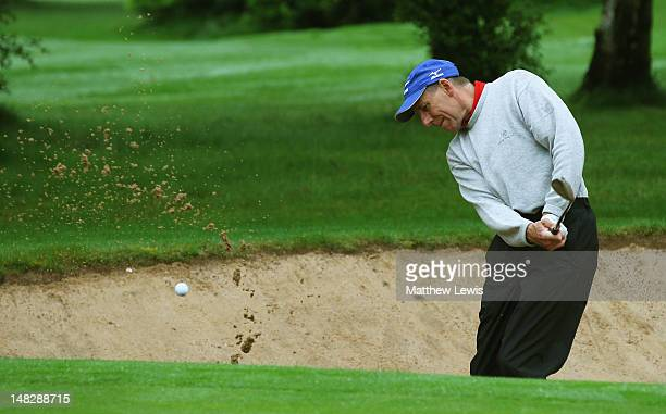 Robert Haymes of Moor Hall Golf Club plays out of a bunker on the 3rd hole during the Virgin Atlantic PGA National ProAm Championship Midland...