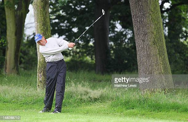 Robert Haymes of Moor Hall Golf Club plays out of the rough on the 3rd hole during the Virgin Atlantic PGA National ProAm Championship Midland...
