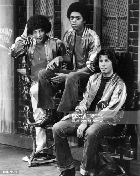 Robert Hegyes as Juan Epstein Lawrence HiltonJacobs as Freddie 'Boom Boom' Washington and John Travolta as Vinnie Barbarino in a promotional still...