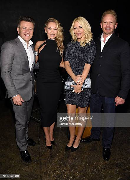 Robert Herjavec Kym Johnson McKenzie Westmore and Ian Ziering attend the Entertainment Weekly People Upfronts party 2016 at Cedar Lake on May 16 2016...