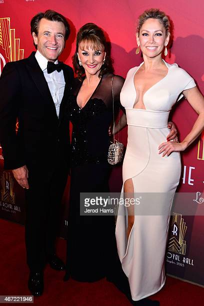 Robert Herjavec Shirley Ballas and Kym Johnson attend the 2015 Royal Ball Hollywood Gala at Millennium Biltmore Hotel on March 21 2015 in Los Angeles...